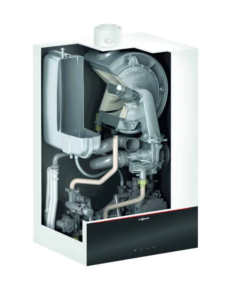 Vitodens 200-w inside boiler