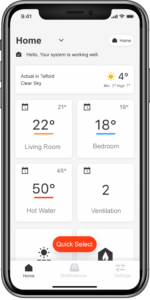 Vicare-home-heating-app-control